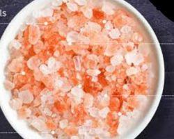 Pink rock salt granules Himalayan pink salt granules with 84 traces