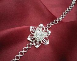 Silver rakhi flower design chandi ki rakhi