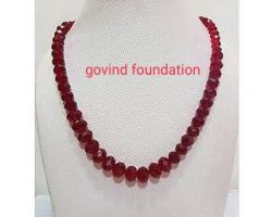 Red agate necklace red agate mala 10mm