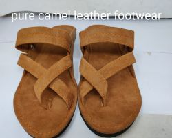 Camel leather sleepers for men handmade camel leather chappal for men's