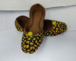 Jaipuri juti printed fabric Jaipuri juti yellow green