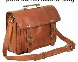 Camel leather bag shopping pure camel leather bag 2 belts
