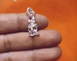 Hanuman silver locket Hanuman silver pendant sitting position