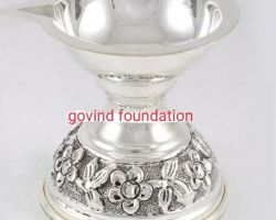 Silver Deepak chandi ka Deepak 3 inches