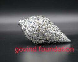 Silver shankh silver conch silver shell