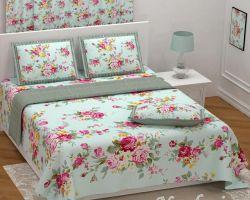 Bedsheet cotton double bed printed Nandini 108×108 print diya