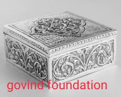 Silver box square shape silver mini box silver dibbi chandi ki dibbi