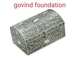 Silver jewellery box silver box for gift or jewellery