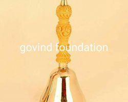 Bronze Pooja bell bronze ghanti kansa ghanti 5.25 inches