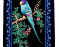 Wall hanging jardoji embroidery work parrot wall hanging 18×24 inches