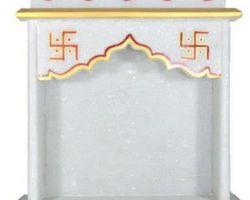 Marble mini temple for door ganesh idol marble mandir small 6×6 inches
