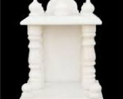 Marble temple white marble mandir with piller 12×8 inches
