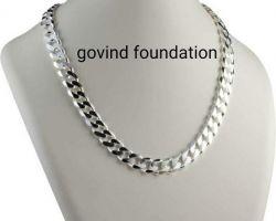 Silver chain broad design pure silver chain