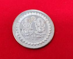 Silver coin laxmi ganesh pure silver ganesh laxmi coin 20gm