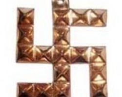 Copper swastik Pyramid pure copper swastik with Pyramid