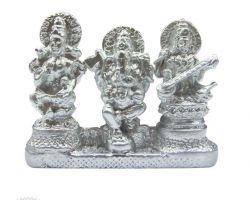 Parad laxmi ganesh saraswati idol