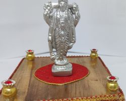 Parad vishnu idol mercury vishnu idol parad laxminarayan 2.5 inches