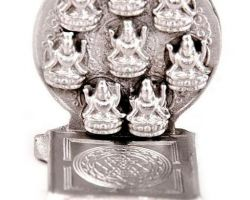 Silver ashtlaxmi shriyantra choki pure silver ashtlaxmi choki with sriyantra