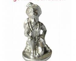 Parad Hanuman idol mercury Hanuman idol sitting position 2 inches