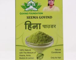 Henna powder hina  herbal Mehdi for hair -100gm brand seema govind
