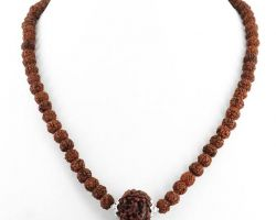 Rudraaksh mala 5 mukhi silver captain single