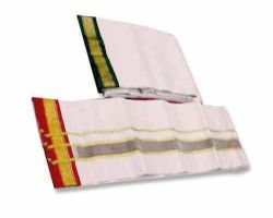 Men's Pooja dhoti white cotton dhoti  4.5mt